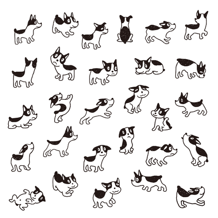 Illustration material of the dog