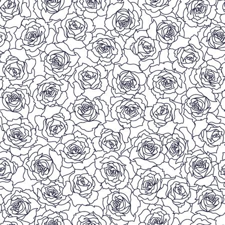 Pattern illustration of beautiful rose