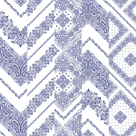 Bandana ornament pattern Stock Illustratie