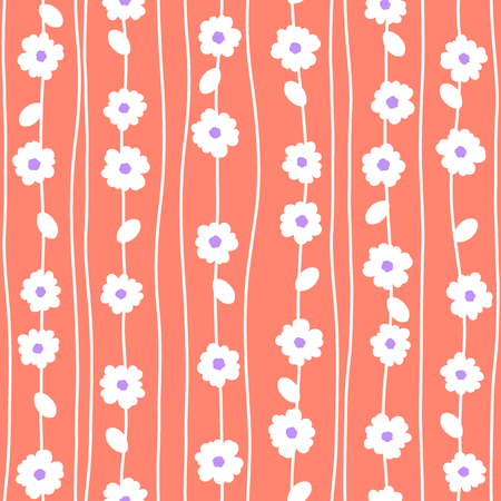 Abstract flower pattern.  イラスト・ベクター素材
