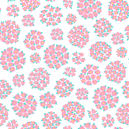 Abstract flower pattern. 向量圖像