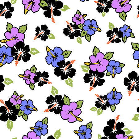 A flower pattern Illustration of the Hibiscus.
