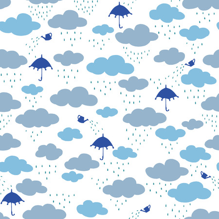 Pretty pattern illustration material of the rain cloud,