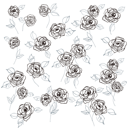 Abstract flower vector illustration material