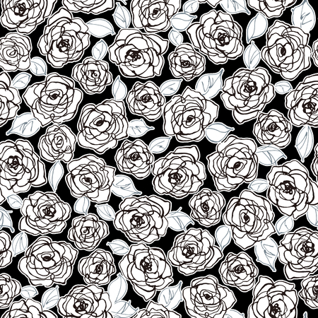 Abstract flower seamless pattern material