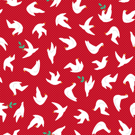 Pattern material of a simple dove,