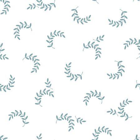 Beautifully abstract plant illustration pattern Ilustração