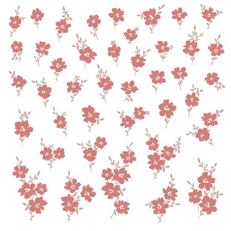 Vector illustration material of a beautiful flower Ilustracja