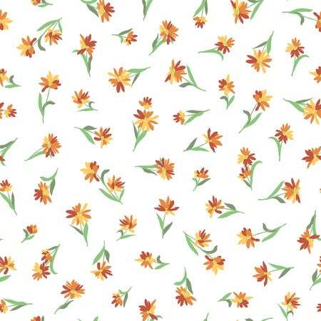 Flower seamless pattern material abstract beautifully Illustration