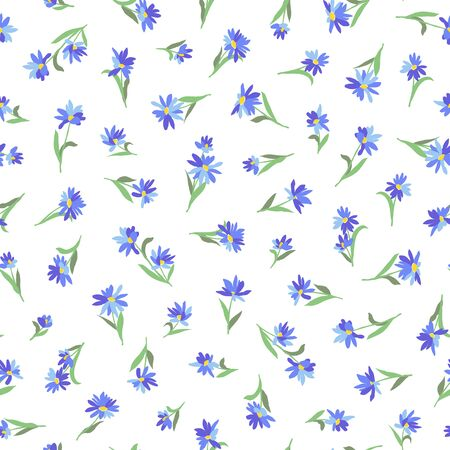 Flower seamless pattern material abstract beautifully 向量圖像