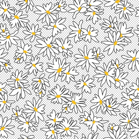 Flower seamless pattern material abstract beautifully Ilustrace