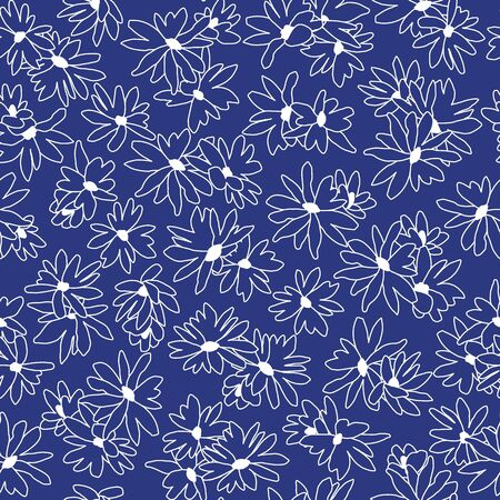 Flower seamless pattern material abstract beautifully Ilustração