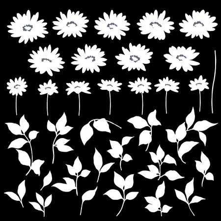 Vector illustration material of a beautiful flower Ilustrace