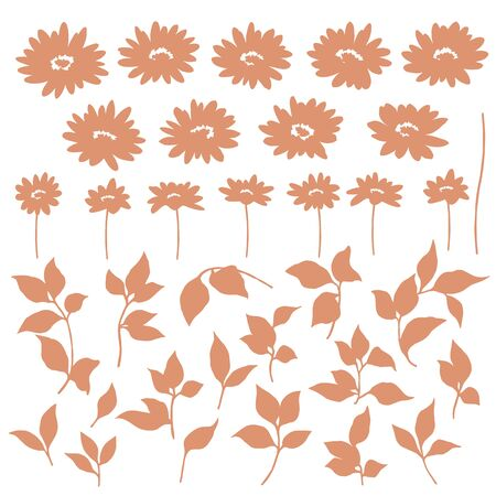 Vector illustration material of a beautiful flower Illustration