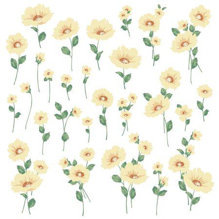 Vector illustration material of a beautiful flower Ilustración de vector