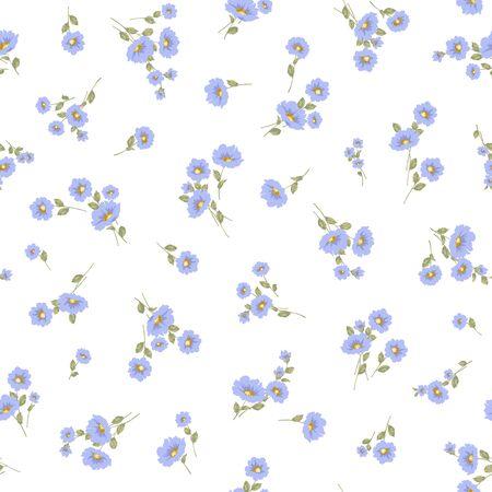 Seamless vector pattern of a beautiful flower,