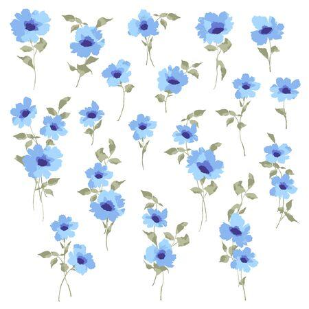 Material de ilustración vectorial de una hermosa flor