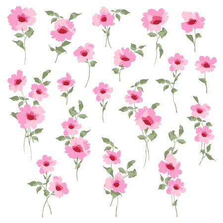 Material de ilustración vectorial de una hermosa flor Ilustración de vector