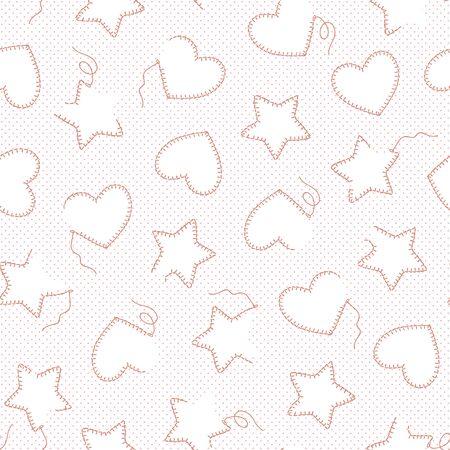 If heart-shaped; a star-shaped seamless pattern,