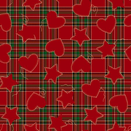 If heart-shaped; a star-shaped seamless pattern,