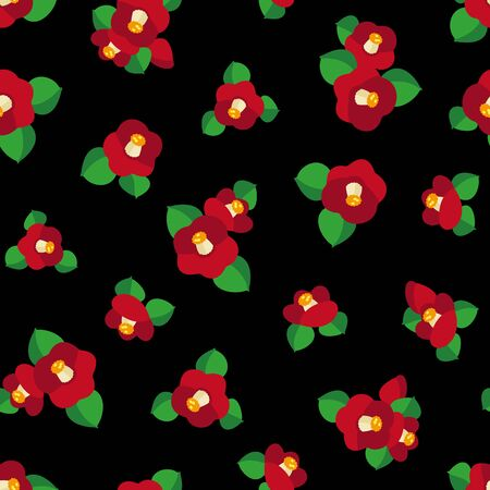 Japanese style pattern of the camellia which I simplified beautifully