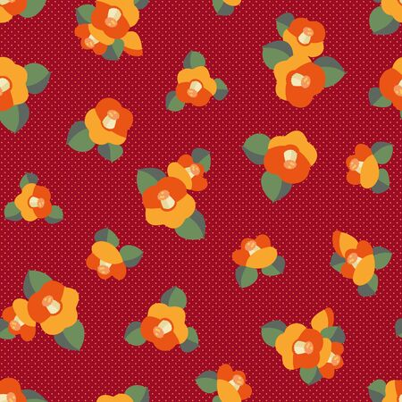 Japanese style pattern of the camellia which I simplified beautifully Foto de archivo - 130284385