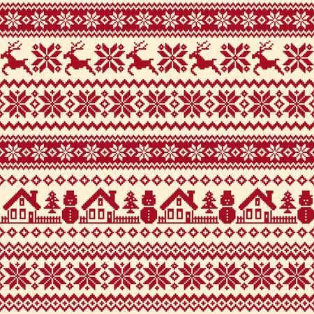 Seamless pattern of splendid North Nordic style Vector Illustration