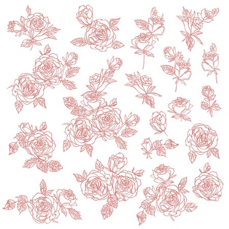 Flower vector illustration material abstract beautifully Illustration