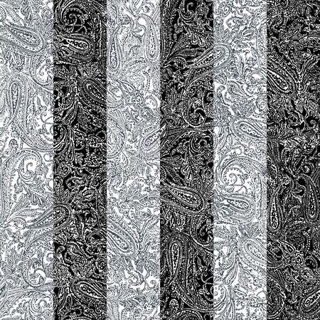Seamless pattern of drowned silkworms,