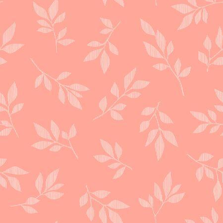 Illustration Pattern of a Leaf Designed Simply,