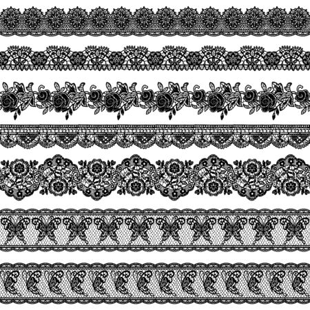 Seamless vector material of a beautiful lace, I drew a real lacework
