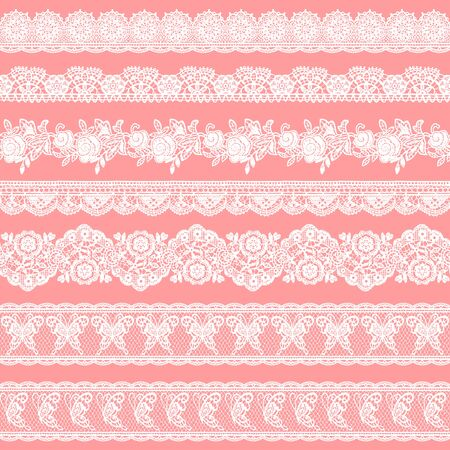 Seamless vector material of a beautiful lace, I drew a real lacework,