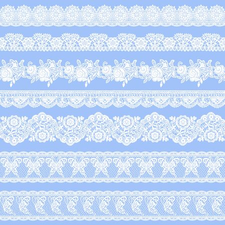 Seamless vector material of a beautiful lace, I drew a real lacework,  イラスト・ベクター素材