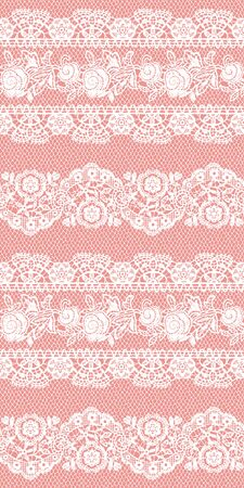 I Made a Beautiful Lace a Seamless Pattern, I Drew a Realistic Lacework, Vector Illustration