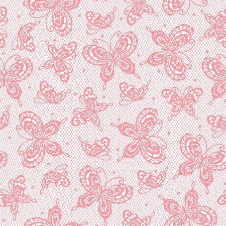 I Made a Beautiful Lace a Seamless Pattern, I Drew a Realistic Lacework,  イラスト・ベクター素材