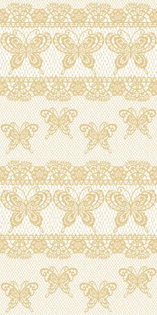 I Made a Beautiful Lace a Seamless Pattern, I Drew a Realistic Lacework,  イラスト・ベクター素材