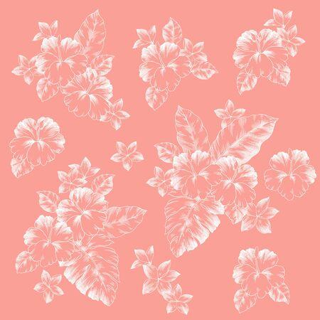 Beautiful Hibiscus Material Material Illustration I Drew Hibiscus for Designing it,