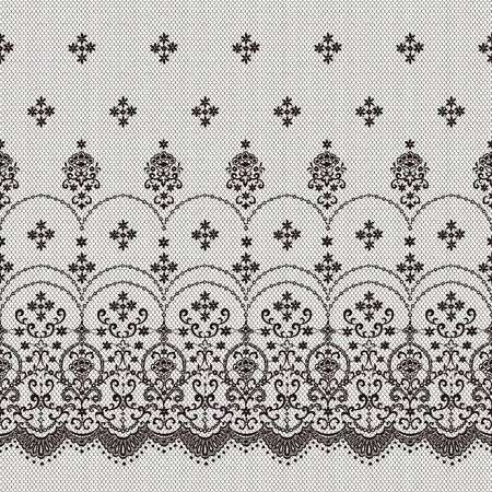 Beautiful lace knitting made into a seamless pattern Vector Illustration