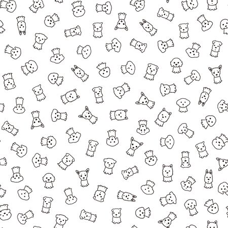 Simple and cute dog seamless pattern,