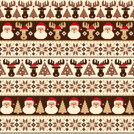 Seamless pattern of the good Nordic-style,