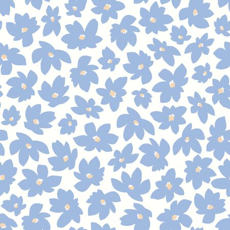 Seamless pattern material of an abstract flower, Çizim