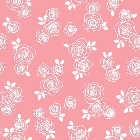 Seamless pattern material of an abstract rose