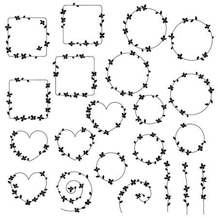 Flower vector illustration material abstract beautifully Ilustração