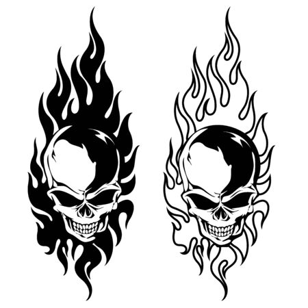 The Illustration That Combined a Flame with the Skull, 일러스트
