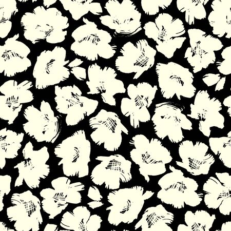 Seamless pattern material of an abstract flower,  イラスト・ベクター素材
