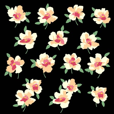 Flower vector material abstract beautifulillustrationly,