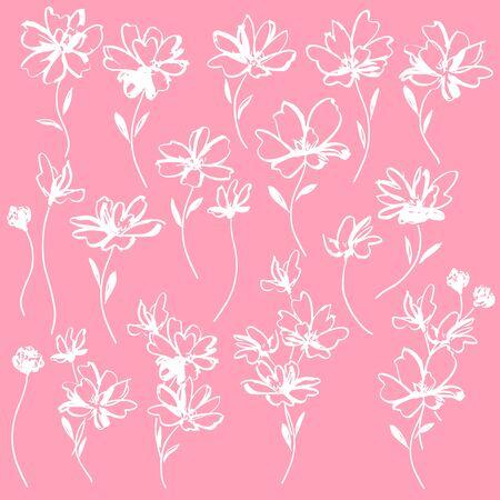 Flower vector material abstract beautifulillustrationly, Vektorové ilustrace