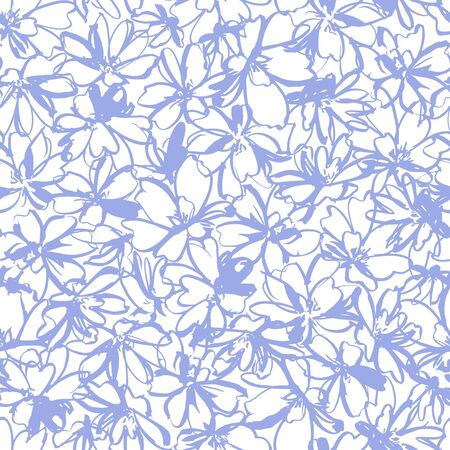 Seamless pattern material of an abstract flower,