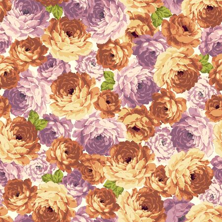 Seamless vector pattern of a rose