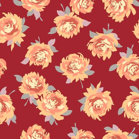 Seamless pattern material of an abstract flower